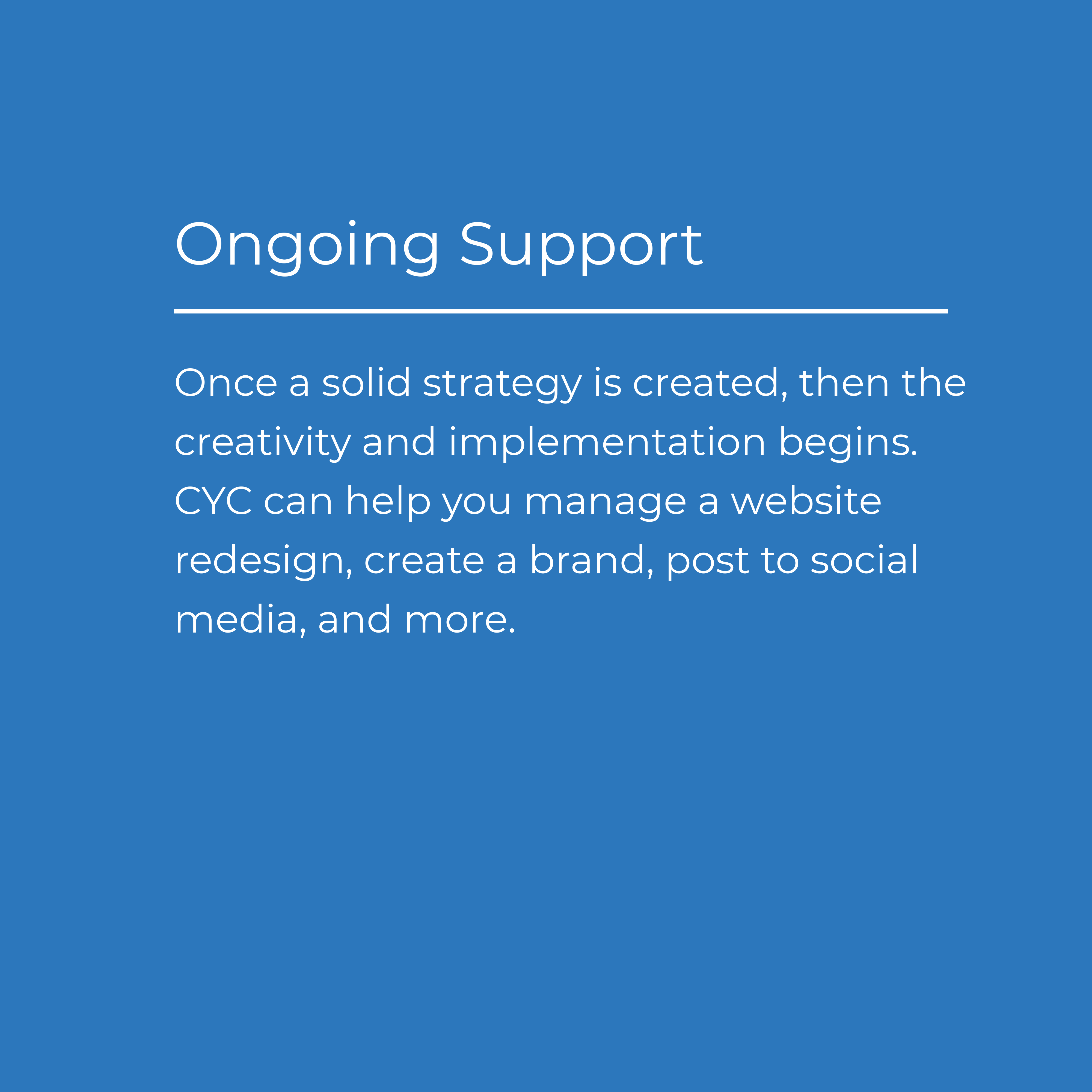 Ongoing Support outline